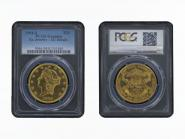 USA 20 Dollars Gold Eagle/Kopf 1904, Slab PCGS MS63
