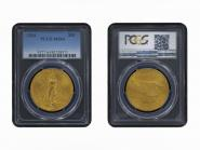 USA 20 Dollars Gold Eagle/Statue 1924 Motto, Slab PCGS MS64