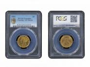 USA 5 Dollars Gold Eagle/Kopf 1881, Slab PCGS MS62