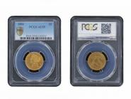 USA 5 Dollars Gold Eagle/Kopf 1884, Slab PCGS AU55