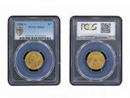 USA 5 Dollars Gold Eagle/Kopf 1886 S, Slab PCGS MS61