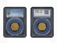 USA 5 Dollars Gold Eagle/Kopf 1886 S, Slab PCGS MS62