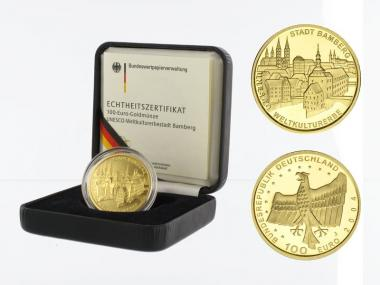 BRD 100 Euro Gold, 2004 A, Bamberg, original