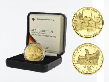 BRD 100 Euro Gold, 2004 D, Bamberg, original