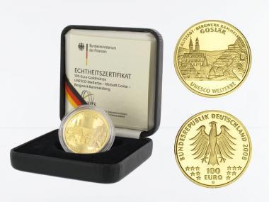 BRD 100 Euro Gold, 2008 F, Goslar, original