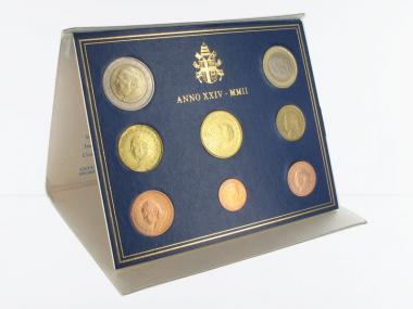 Vatikan original KMS, 2002 Stgl., im blauen Folder