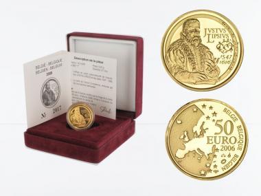 Belgien 50 Euro Gold, Lipsius 2006, original