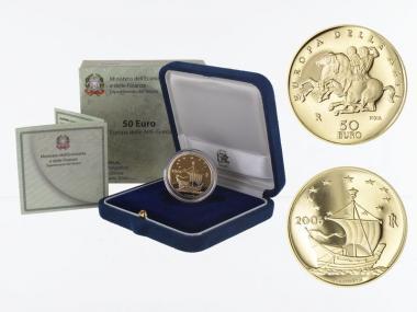 Italien 50 Euro Gold, 2006, Parthenon, original