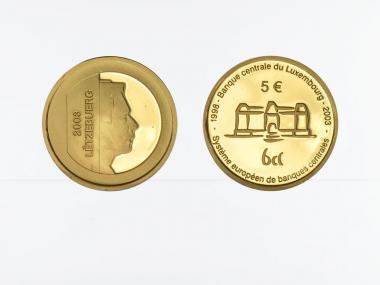 Luxemburg 5 Euro Gold, 2003, Zentralbank, original