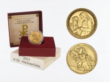 Österreich 50 Euro Gold, 2003, Nächstenliebe,