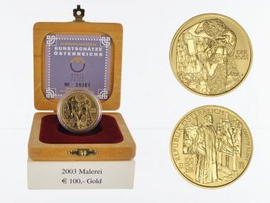 Österreich 100 Euro Gold, 2003, Malerei,