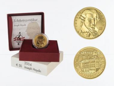 Österreich 50 Euro Gold, 2004, Joseph Haydn,