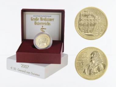 Österreich 50 Euro Gold, 2007, Gerard van Swieten,