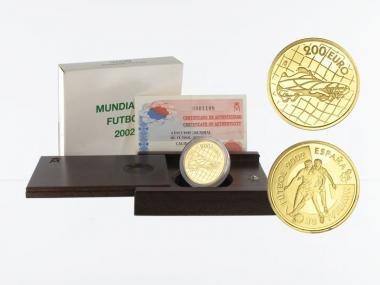 Spanien 200 Euro Gold, 2002, Fußball WM 2002
