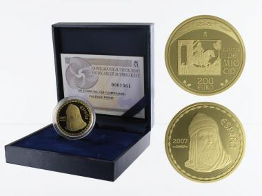 Spanien 200 Euro Gold, 2007, El Cid