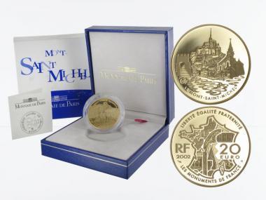 Frankreich 20 Euro Gold, 2002, Mont-Saint-Michel