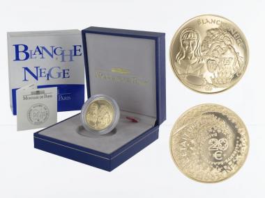 Frankreich 20 Euro Gold, 2002, Schneewittchen