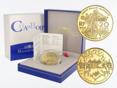 Frankreich 20 Euro Gold, 2003,  Schloß Chambord