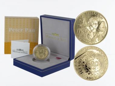 Frankreich 20 Euro Gold, 2004,  Peter Pan