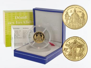 Frankreich 10 Euro Gold, 2006,  Invalidendom