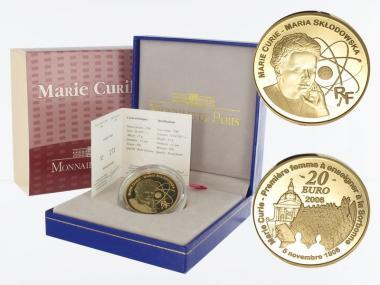 Frankreich 20 Euro Gold, 2006,  Marie Curie