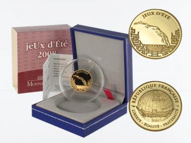 Frankreich 10 Euro Gold, 2008, Olympiade Peking