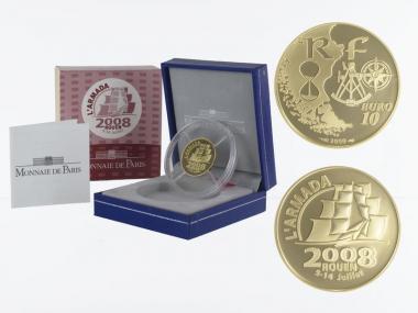 Frankreich 10 Euro Gold, 2008, Armada Rouen