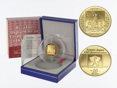 Frankreich 10 Euro Gold, 2008, Französische Malerei