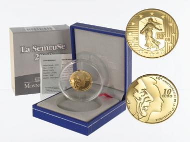 Frankreich 10 Euro Gold, 2008, Säerin
