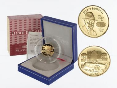 Frankreich 50 Euro Gold, 2009, Ettore Bugatti