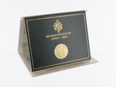 Vatikan 2 Euro Münze, 2005, Weltjugendtag im Folder