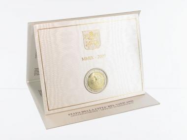 Vatikan 2 Euro Münze, 2009, Astronomie im Folder