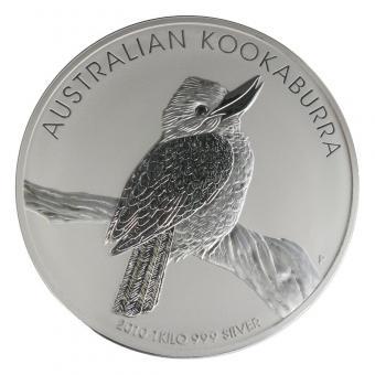 Australien 30$ Kookaburra 2010, 1 Kilo Kg  Silber, Neu