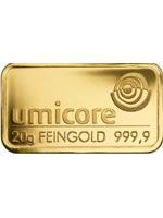 20 Gramm Goldbarren 999,9 Feingold Folie