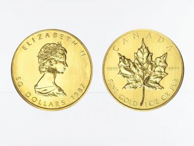 Kanada 50 Dollar 1 oz Maple Leaf, 1 Unze Feingold