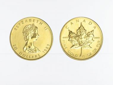 Kanada 20 Dollar 1/2 oz Maple Leaf, 1/2 Unze Feingold