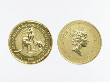 Australien 15 $ Nugget Känguru, 1/10 Unze  1996