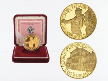 Österreich 1000 Sh. Gold, 1992, Johann Srauss