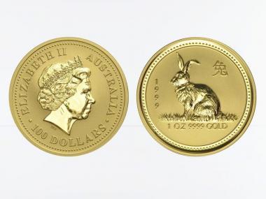 Australien 100 $ Lunar I Hase, 1 Unze  1999