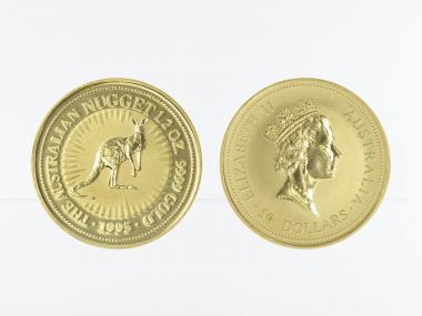 Australien 50 $ Nugget Känguru, 1/2 Unze  1995