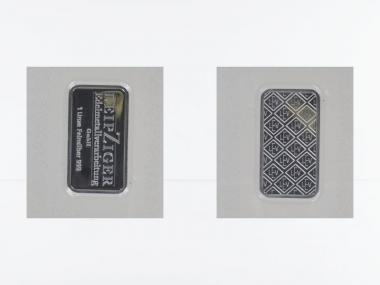 1 Unze Silberbarren 999,9 Feinsilber