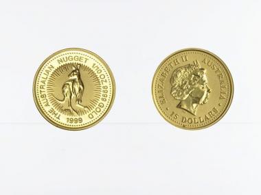 Australien 15 $ Nugget Känguru, 1/10 Unze  1999