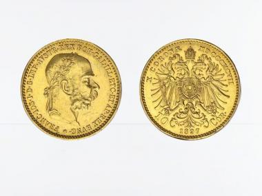 Österreich 10  Kronen/Corona 1897