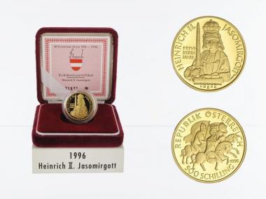 Österreich 500 Sh. Gold, 1996, Heinrich II.