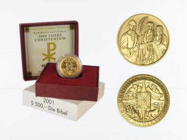 Österreich 500 Sh. Gold, 2001, Die Bibel