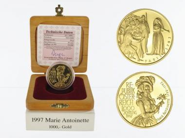 Österreich 1000 Sh. Gold, 1997, Marie Antoinette