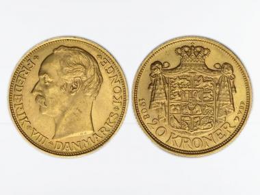 Dänemark Frederik VIII  1908, 20 Kroner Gold