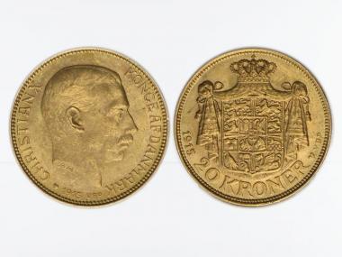 Dänemark Christian X  1915, 20 Kroner Gold