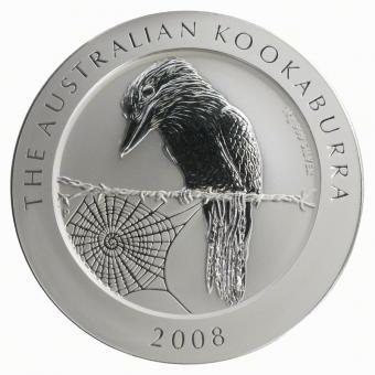 Australien 30$ Kookaburra 2008, 1 Kilo Kg  Silber