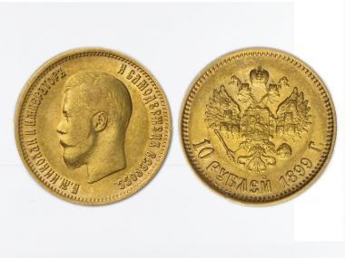 Russland 10 Rubel Nikolaus II,  1899